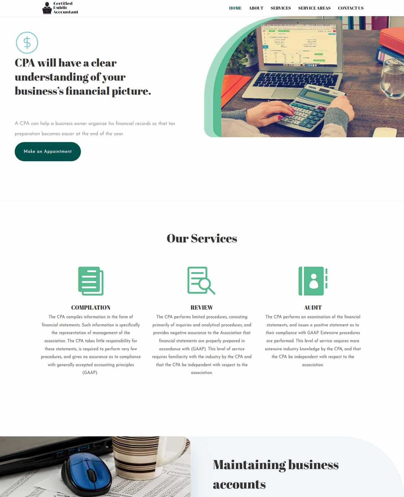 Service CPA Website